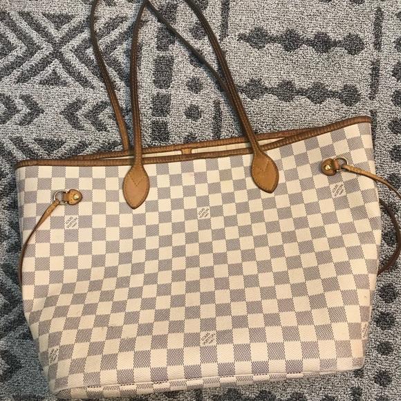 4cafa0f10421 Louis Vuitton Handbags - Louis Vuitton Neverfull Damier Azur MM firm